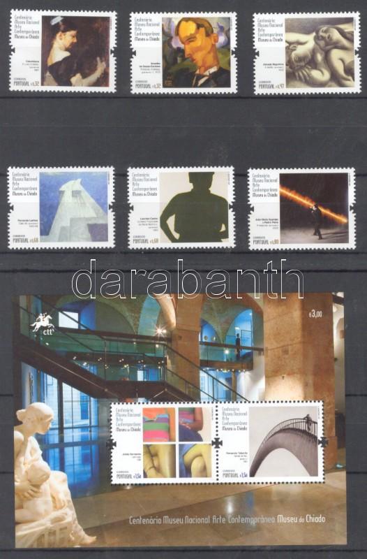 100th National Museum of Contemporary, Paintings year of the set + block 100 éves kortárs Nemzeti Múzeum, Festmények sor  + blokk