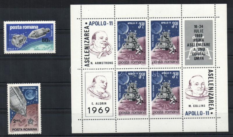 Űrhajók Apollo 9 és Apollo 10 sor + blokk Spacecrafts Apollo 9 and Apollo 10 set + block