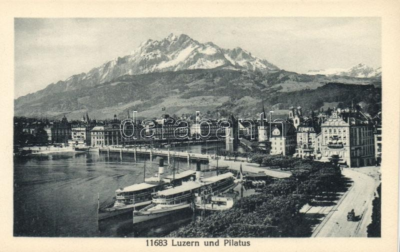 Luzern Pilatus mountain, steamship
