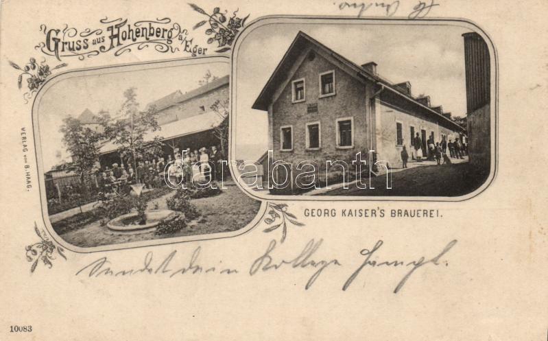 Hohenberg an der Eger, Georg Kaiser´s Brauerei / brewery, floral