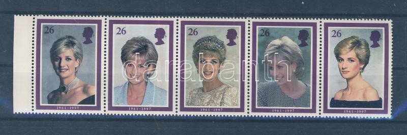 Death of Princess Diana margin stripe of 5 Tod von Prinzessin Diana Fünferstreifen Diana hercegnő halála ívszéli ötöscsíkban