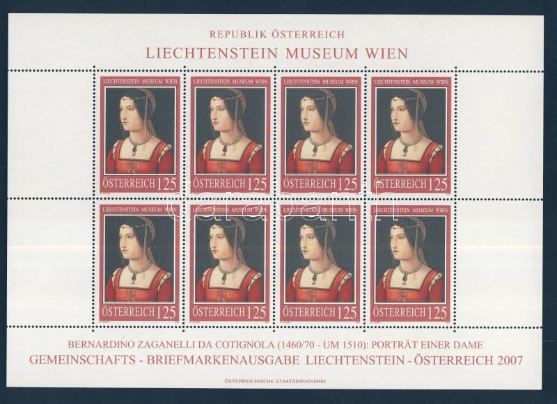 Paintings in Lichtenstein Museum, Vienna (III) minisheet Festmények a Liechtenstein Múzeumban, Bécs (III) kisív