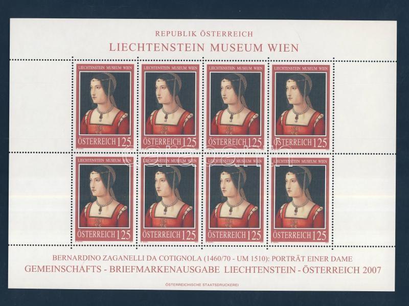 Festmények a Liechtenstein Múzeumban, Bécs (III) kisív Gemälde im Liechtenstein-Museum, Wien (III) Kleinbogen Paintings in Liechtenstein Museum, Vienna (III) minisheet
