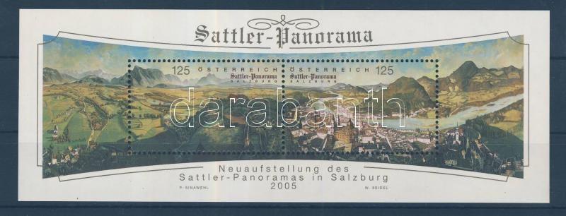 Sattler-Panoráma Salzburgban blokk Sattler-Panorama Salzburg block