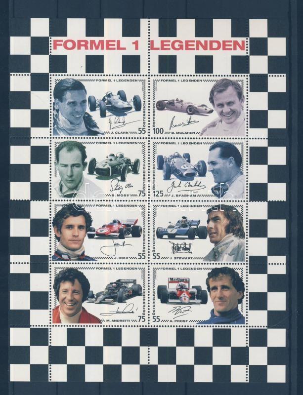 Formula one racing driver (III) minisheet Forma 1 autóversenyzők (III) kisív