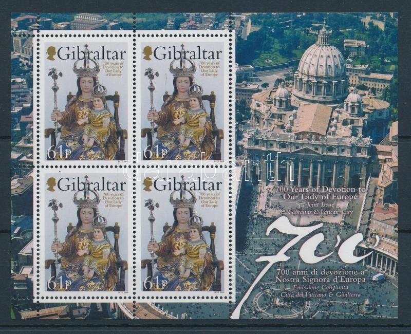 Európa Nagyasszonya kisív Our Lady of Europe mini-sheet