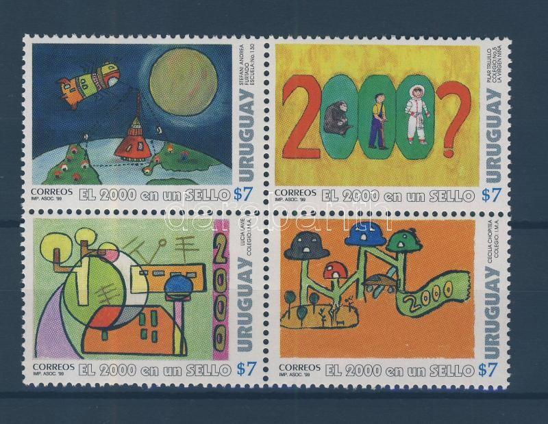 Nemzetközi festészet verseny gyerekeknek sor négyestömb International painting competition for children set block of 4