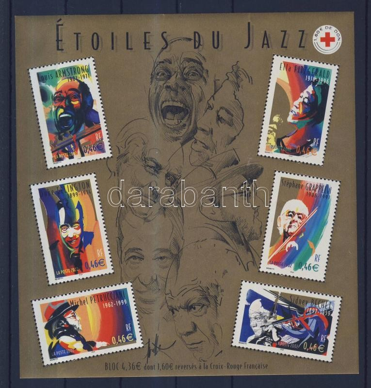 Jazz muzsikusok blokk Jazz musicians block