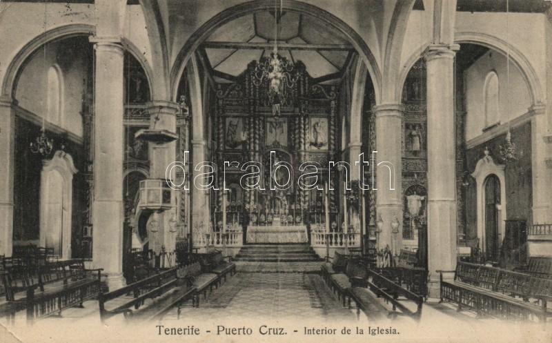 Puerto de la Cruz, Tenerife, church interior