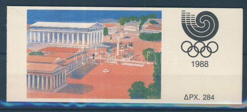 Summer Olympic Games, Seoul stamp-booklet Nyári olimpiai játékok, Szöul bélyegfüzet