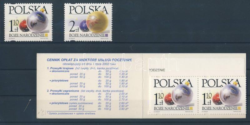 Christmas set + stampbooklet Karácsony sor + bélyegfüzet