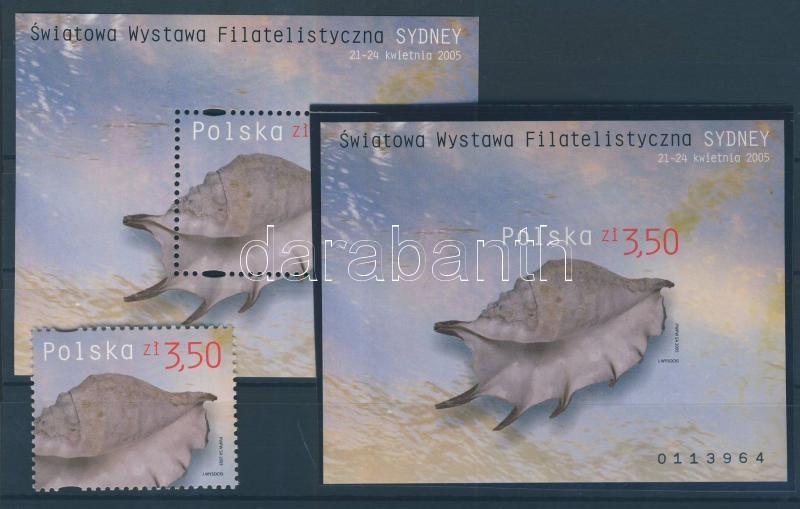 International stamp exhibition Sydney block + imperforated Nemzetközi bélyegkiállítás, Sydney blokk + vágott
