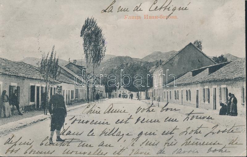 Cetinje Ivan Beg street