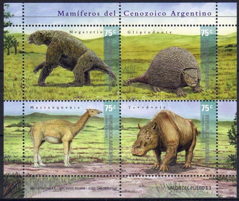 Prehistoric animals block, Ősállatok blokk, Prähistorische Tiere Block