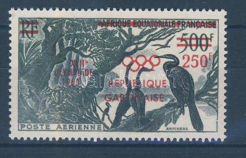 Roman Olympics overprinted stamp Római olimpia felülnyomott bélyeg