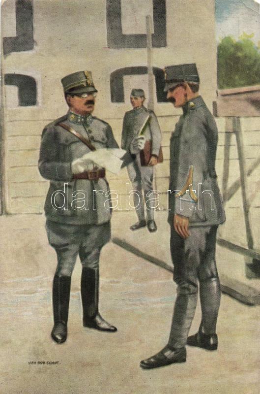 WWI Dutch military officers, contract s: Van Gorschof, Első Világháborús holland katonatisztek, szerződés s: Van Gorschof