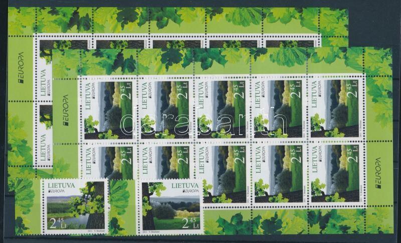 Europa CEPT Erdők sor + kisívpár Europa CEPT Forest set + mini-sheet