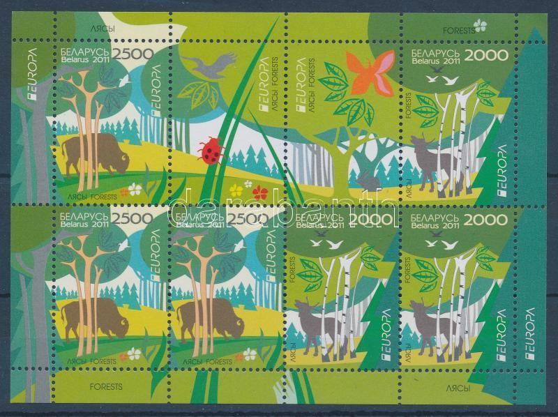 Europa CEPT Erdők kisív Europa CEPT Der Wald Kleinbogen Europa CEPT Forests minisheet