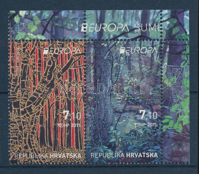 Europa CEPT Forest pair + mini-sheet includes 9 pairs Europa CEPT Erdők pár + 9 párt tartalmazó kisív