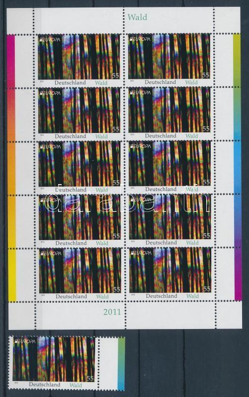 Europa CEPT Forest stamp + mini-sheet Europa CEPT Erdők bélyeg + kisív