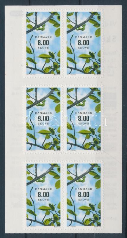 Europa CEPT Forests self-adhesive stamp booklet Europa CEPT Der Wald selbtsklebendes Markenheftchen Europa CEPT Erdők öntapadós bélyegfüzet