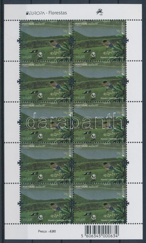 Europa CEPT Forest mini-sheet Europa CEPT Erdők kisív