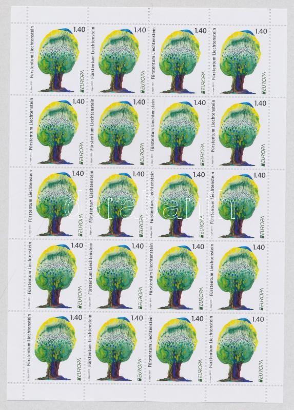 Europa CEPT Erdők kisív Europa CEPT Forest mini-sheet
