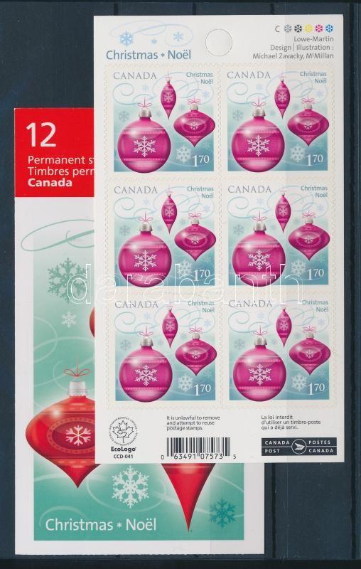 Christmas self-adhesive stamp-foil + stamp booklet Weihnachten selbstklebendes Folienblatt + Markenheftchen Karácsony öntapadós bélyegfólia + bélyegfüzet