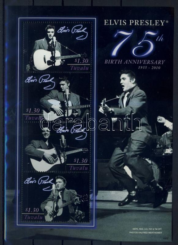 75th Birth Anniversary of Elvis Presley 75 éve született Elvis Presley kisív