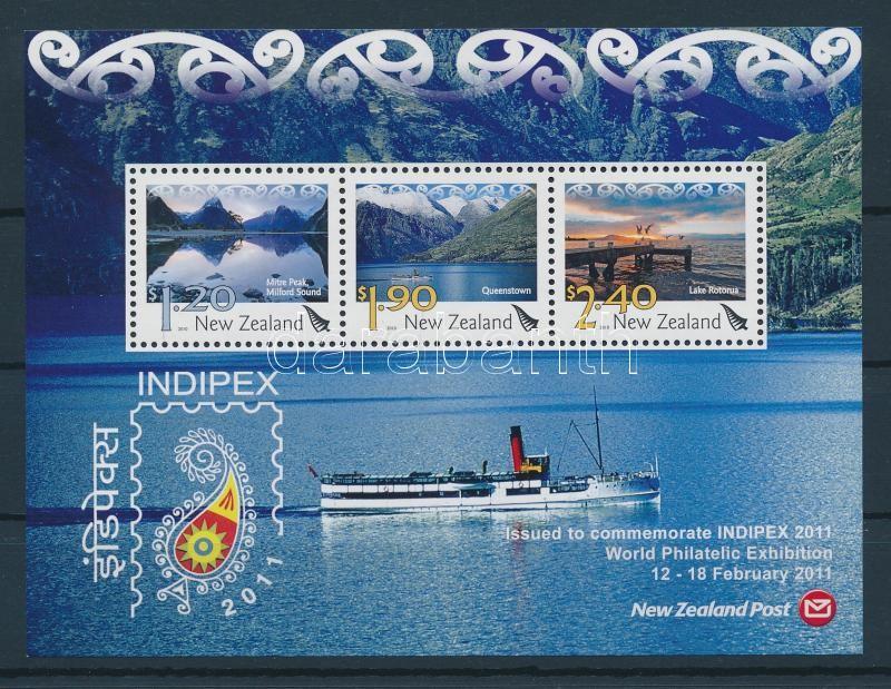INDIPEX Stamp Exhibition INDIPEX Bélyegkiállítás blokk