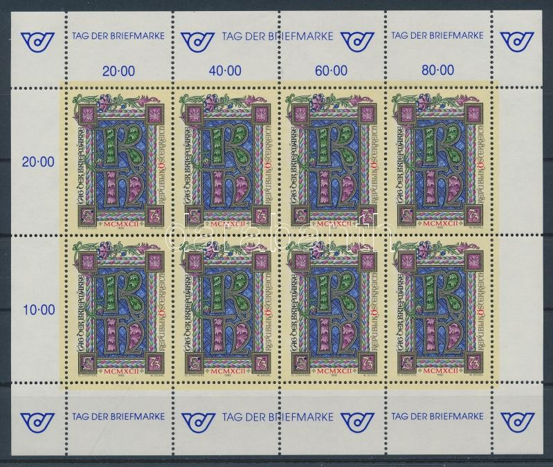 Stamp Day mini-sheet Bélyegnap kisív
