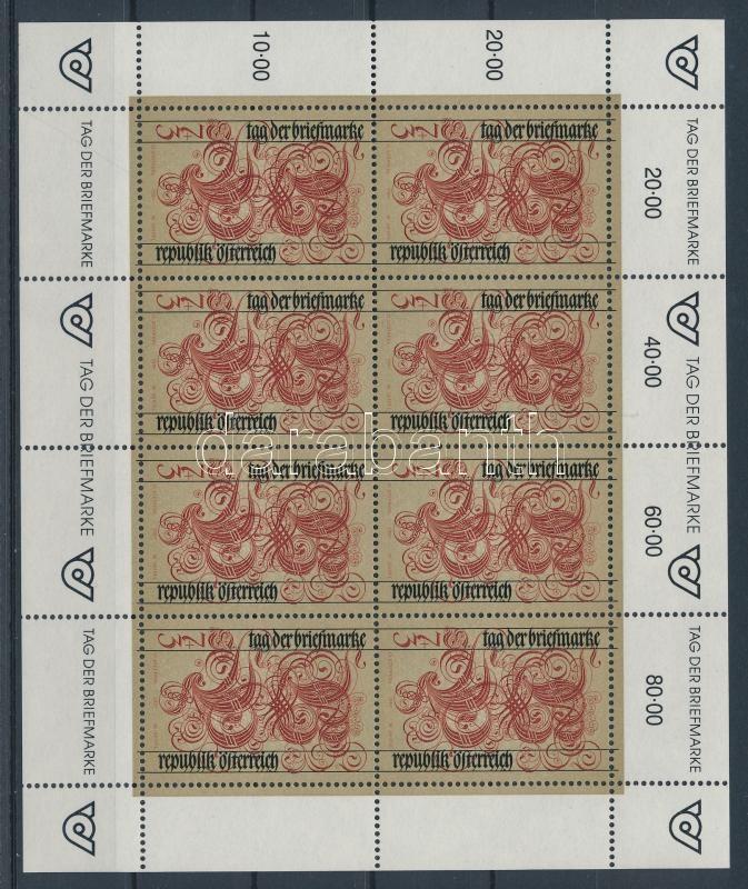 Bélyegnap kisív Stamp Day mini-sheet