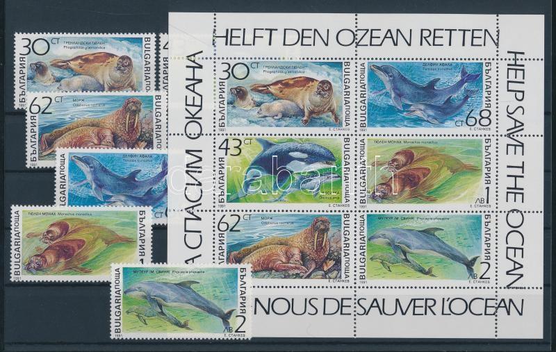 81 divers stamp in complete sets + 7 divers block 81 klf bélyeg teljes sorokban + 7 klf blokk 8 berakólapon