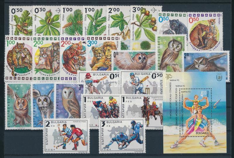 78 divers stamp in complete sets + 5 divers block 78 klf bélyeg teljes sorokban + 5 klf blokk 4 berakólapon