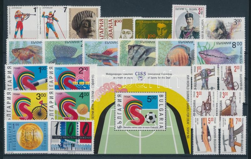 41 divers stamp in complete sets + 2 divers block 41 klf bélyeg teljes sorokban + 2 klf blokk 2 berakólapon