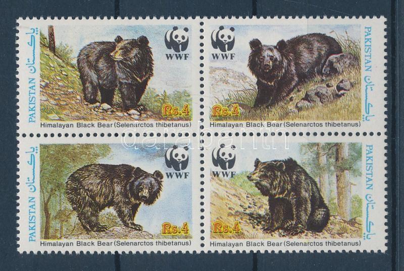 WWF Himalayan Black Bear set WWF Örvös medve sor