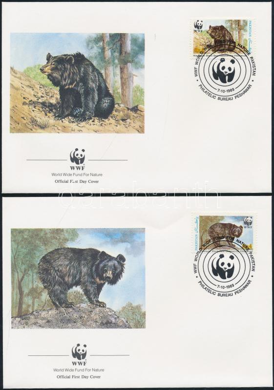 WWF Himalayan Black Bear set 4 on FDC WWF Örvös medve sor 4 FDC-n