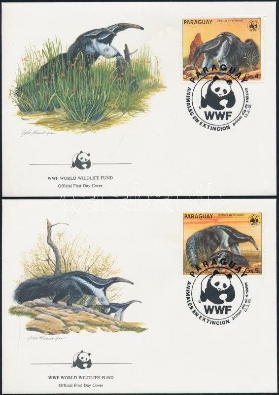 WWF: Animals set on 4 FDC WWF: Állatok sor 4 db FDC-n