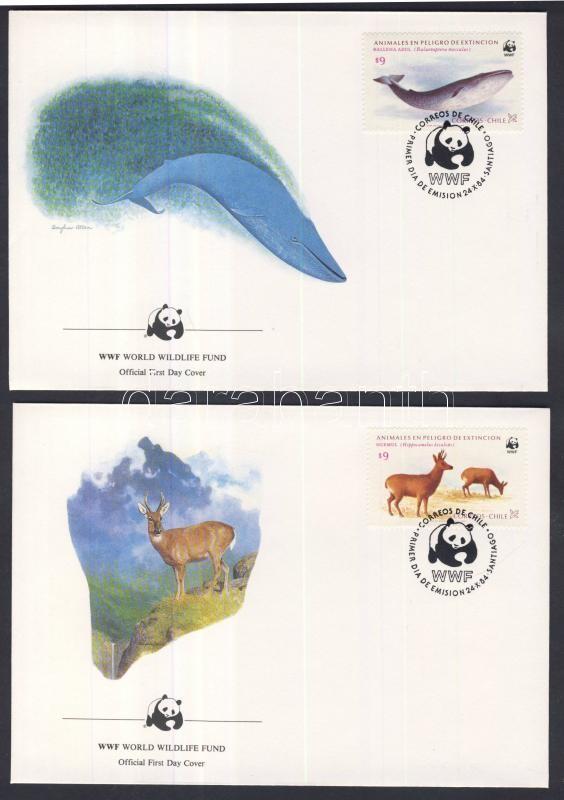 WWF: American tapir set 4 pieces on FDC WWF: Amerikai tapír sor 4 db FDC-n