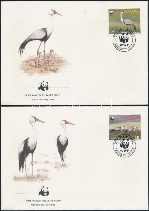 WWF: Cranes set on 4 FDC WWF: Darvak sor 4 db FDC-n