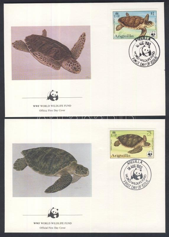 WWF: Turtles set 4 pieces on FDC WWF: Teknősbékák sor  4 db FDC-n