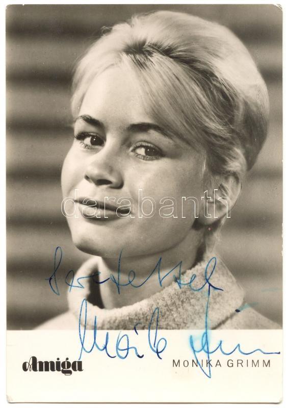 Monika Grimm actress photo with autograph, Monika Grimm színésznő dedikált fotó /