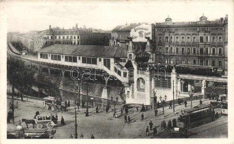 Berlin, Hochbahnhof, Hallesches Tor / railway station