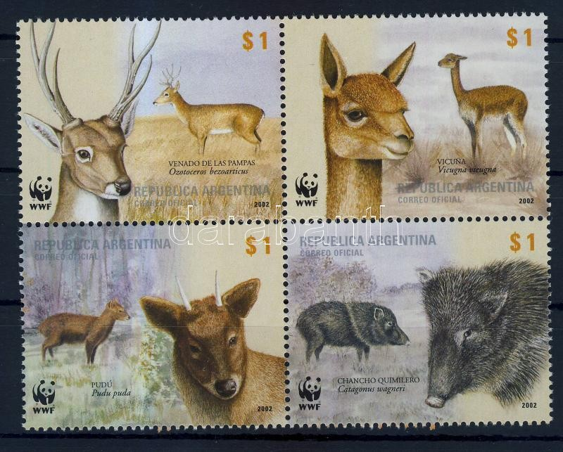 WWF: Honos emlősállatok négyestömb WWF: Native mammals block of 4
