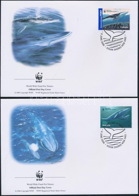 WWF Whales set on FDC WWF Bálnák sor 4 FDC-n