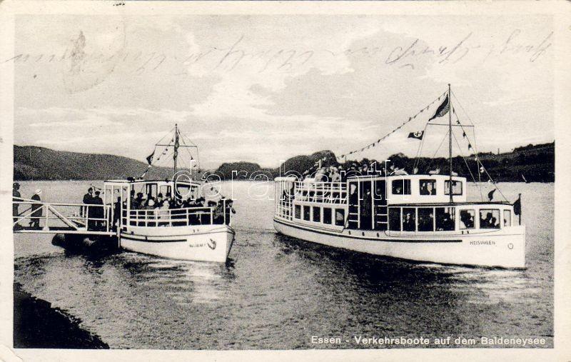 Essen transport boats on the Baldeneysee, Essen forgalmi hajók a Baldeneyseen
