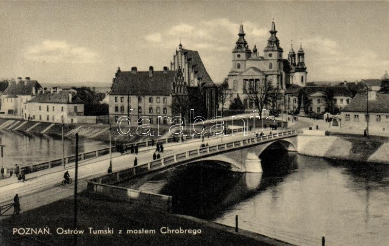 Poznan, Ostrów Tumski z mostem Chrobrego / Bridge, cathedral