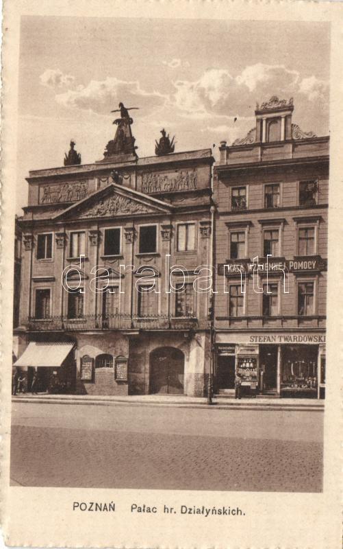 Poznan Dzialynski Palace, Shop of Stefan Twardowski