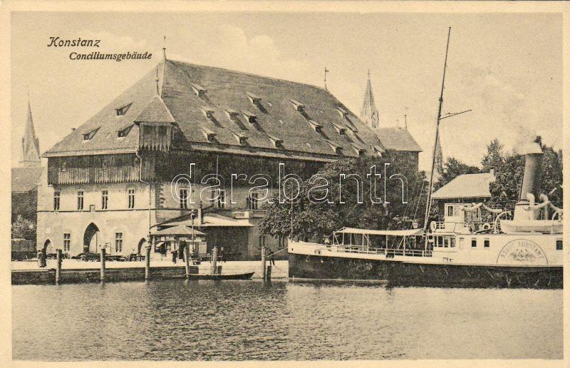 Konstanz council buildings, SS Stadt Konstanz, Konstanz tanácsépületek, Stadt Konstanz gőzös, Konstanz