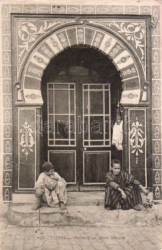 Tunis entrance of a moor bath, Tunisz mór fürdő bejárata